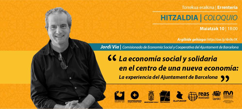 """Maider Iriarte: """"Bartzelonan eraldaketarako sortzen ari den ekonomia ezagutuko dugu Jordi Viarekin"""""""