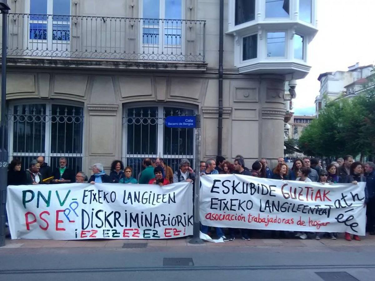 'Bilgune kontari': erakundetzea, etxeko langileen protesta, CETAri ez eta agenda