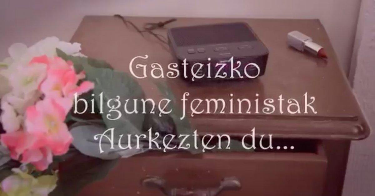 Ostegun feministen berri eman digute Gasteizko Bilgune Feministako kideek