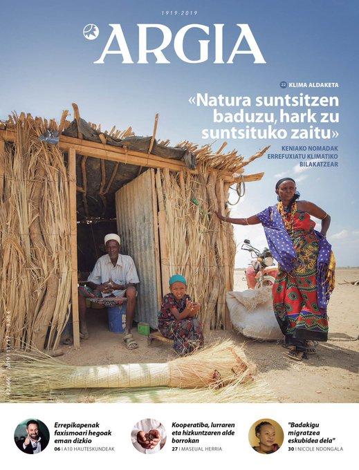 ARGIA AURRERAPENA   Errefuxiatu klimatikoak, Nicole Ndongala, eta ADI! elkartearen jardunaldiak