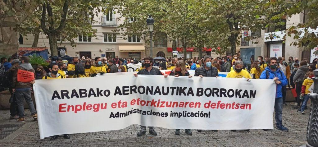 IRRATIEN TARTEA | Hekuntzako protestak, Arabako aeronautika sektoreko mobilizazioak, Osakidetzako langileen elkarretaratzeak, eta Desjabetuen Hotelaren desalojo arriskua