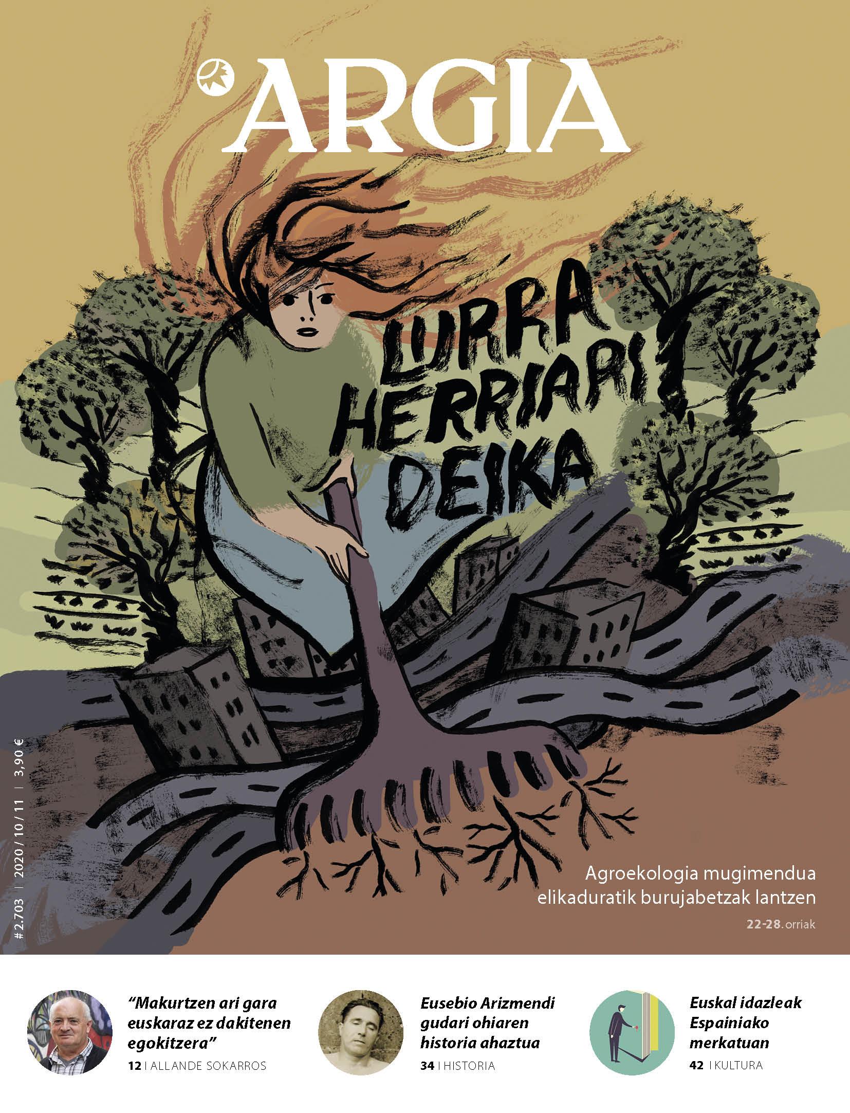ARGIA AURRERAPENA | Lurra herriari deika, euskal idazleak Espainiako merkatuan, eta Pantx Records kolektiboa