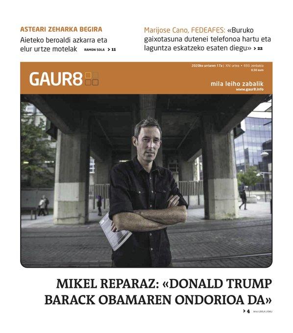 GAUR8 AURRERAPENA | Mikel Reparaz; zirtolariak; eta Marijose Cano