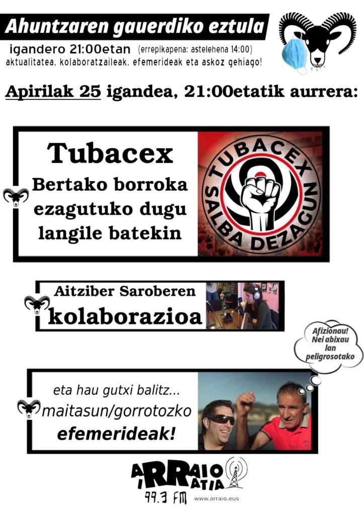 Tubacex eta Aitziber Sarobe gaurkoan!