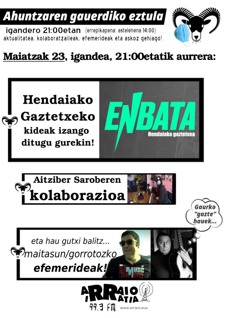 Hendaiako Gaztetxea eta Aitziber Saroberen kolaborazioa