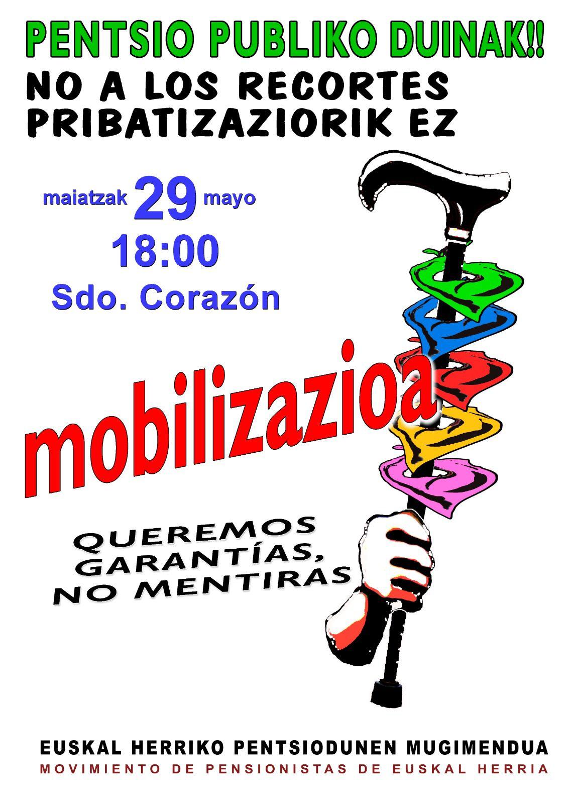 IRRATIEN TARTEA | Kubako blokeoaren kontrako itsas ibilaldia, Zaharrean Berri! eta Pentsio publiko duinak manifestazioa