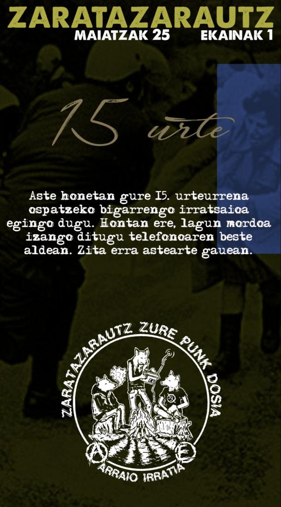 ZarataZarautz irratsaioaren 15. urteurreneko bigarren irratsaioa