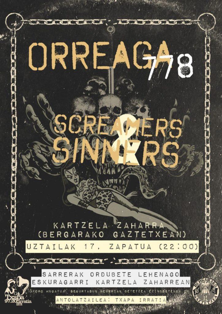 Kontzertua – Screamers & Sinners