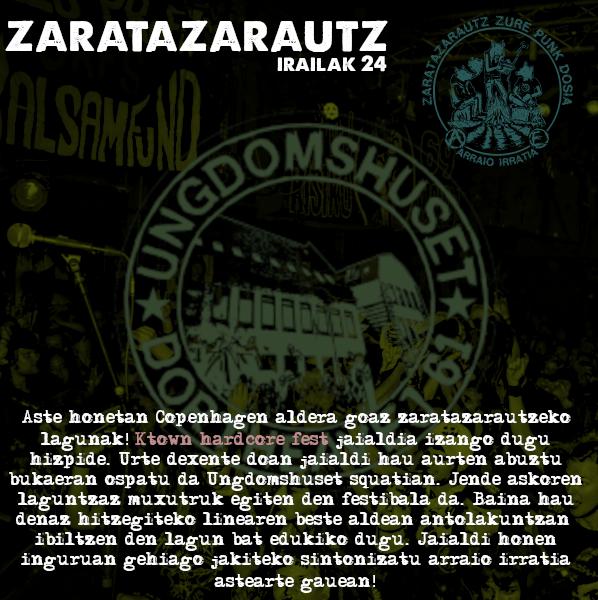 K-Town Fest jaialdia ZarataZarautz irratsaioan